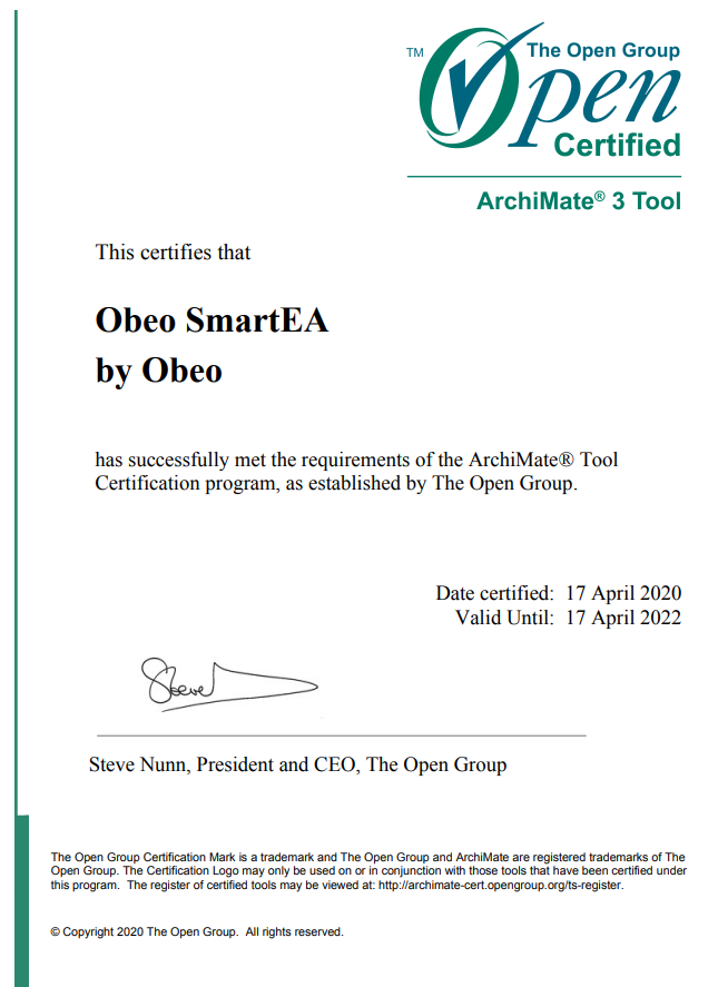 Certification ArchiMate 3.1